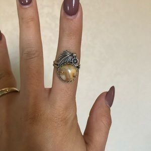 Jewelry - Mustard Lace Agate Ring 6.25